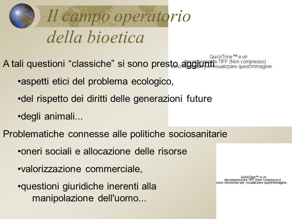 Il campo operatorio della bioetica