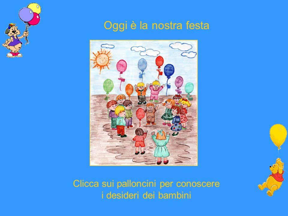Clicca sui palloncini per conoscere i desideri dei bambini