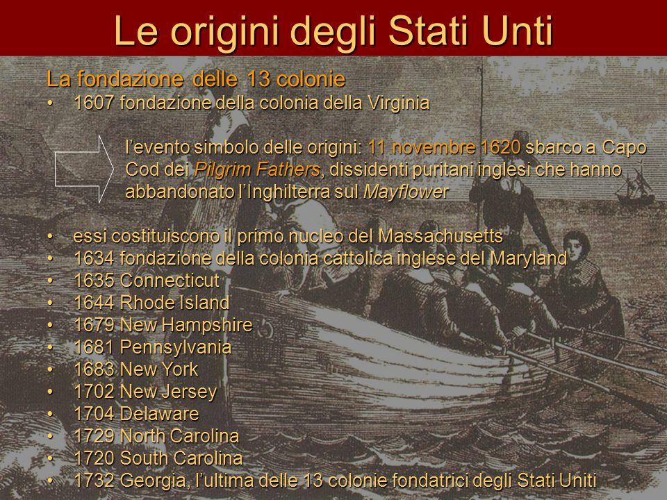 Le origini degli Stati Unti
