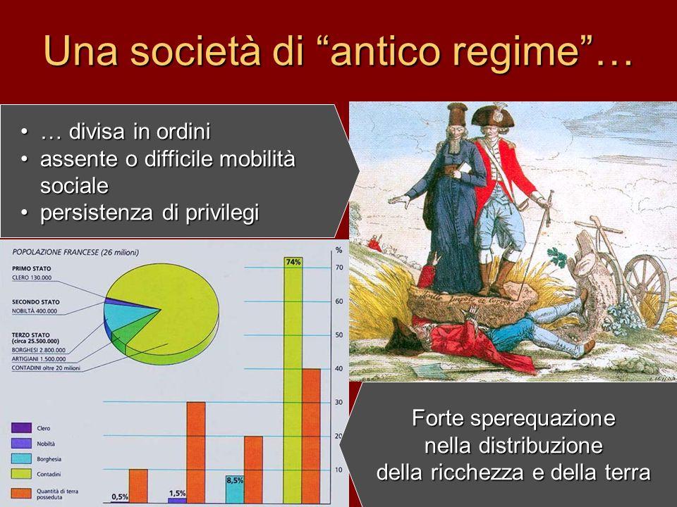 Una società di antico regime …