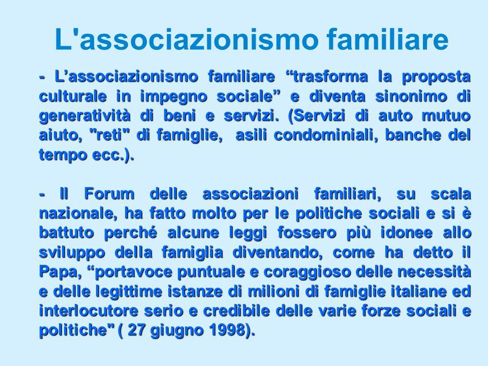 L associazionismo familiare