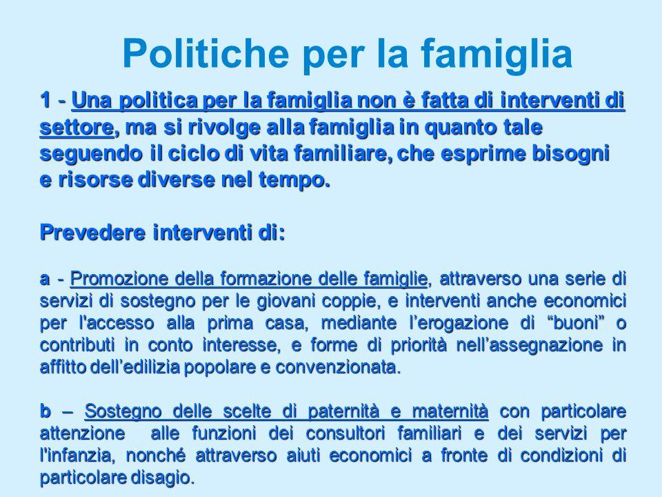 Politiche per la famiglia