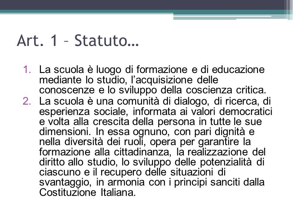 Art. 1 – Statuto…