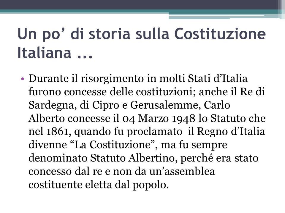 Un po' di storia sulla Costituzione Italiana ...