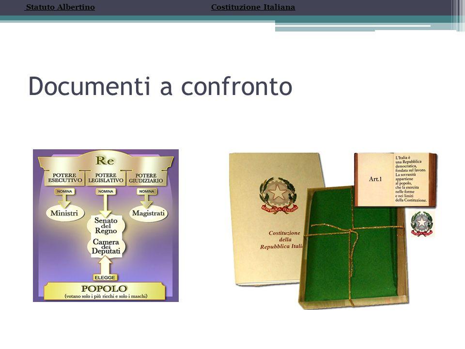 Statuto Albertino Costituzione Italiana