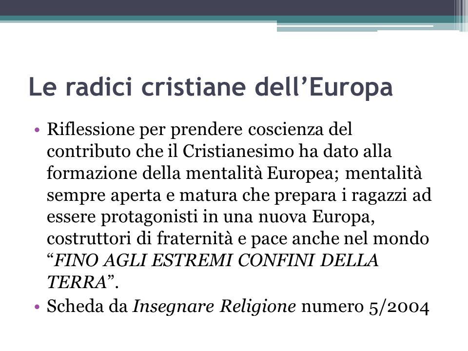 Le radici cristiane dell'Europa
