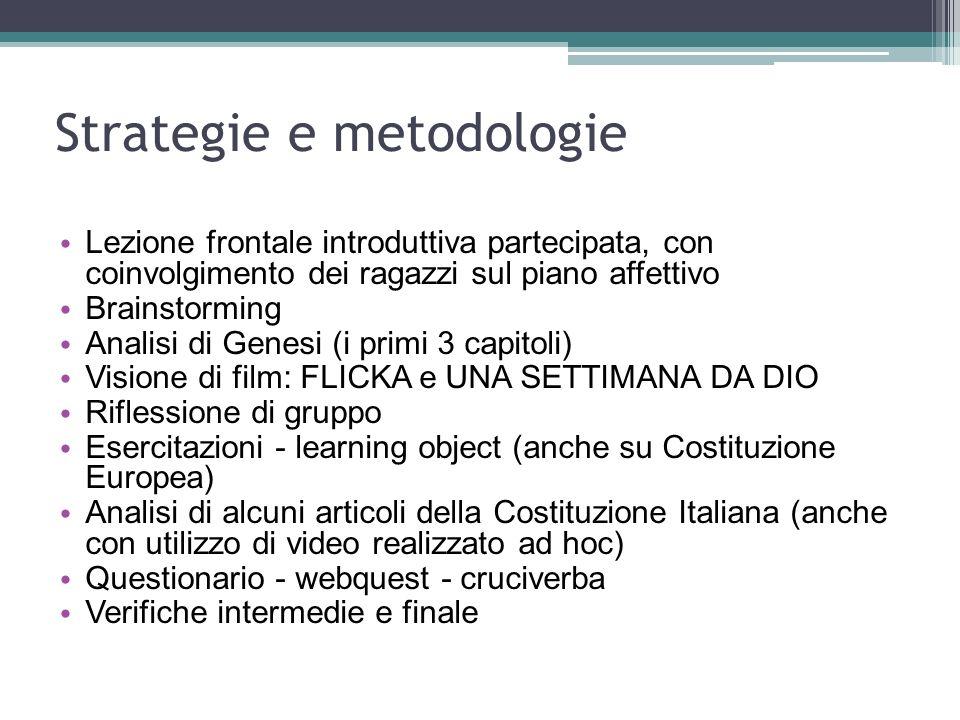 Strategie e metodologie