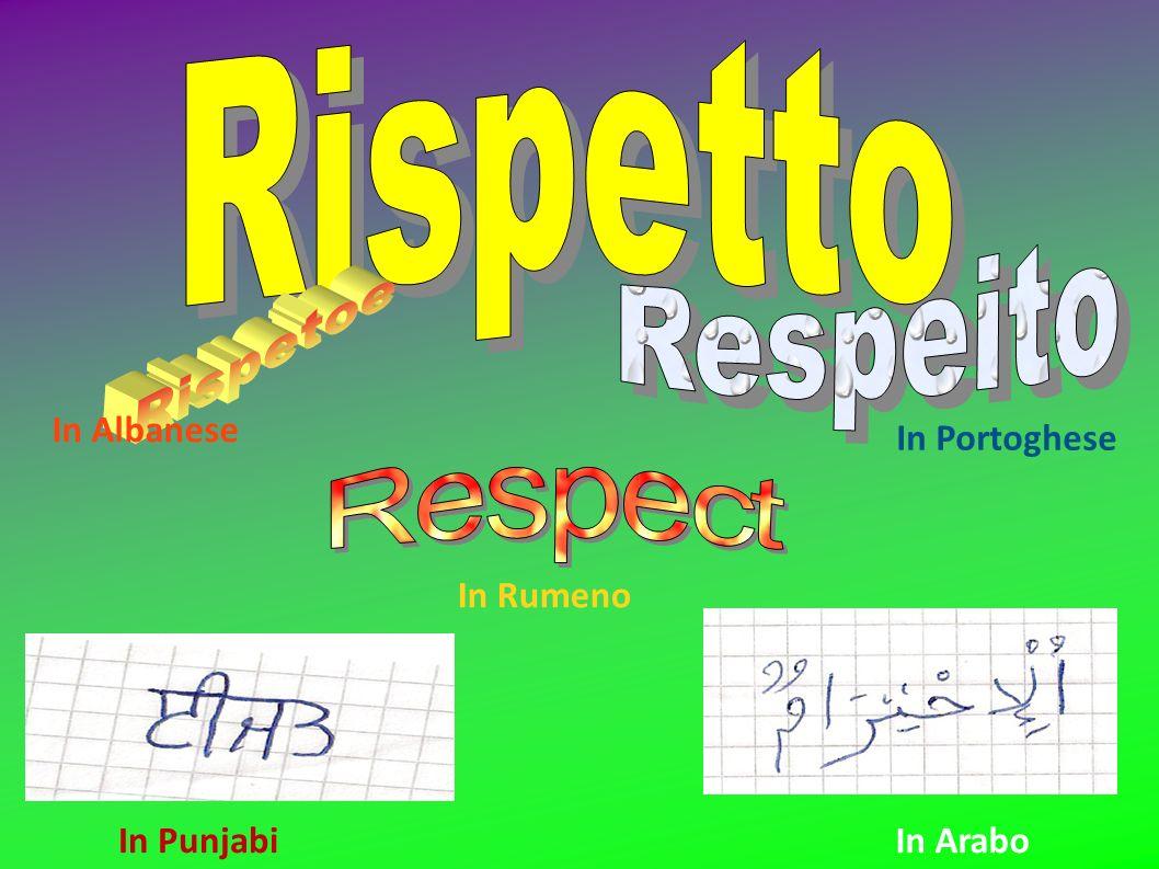 Rispetto Respeito Rispetoe Respect In Albanese In Portoghese In Rumeno