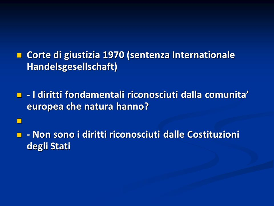 Corte di giustizia 1970 (sentenza Internationale Handelsgesellschaft)