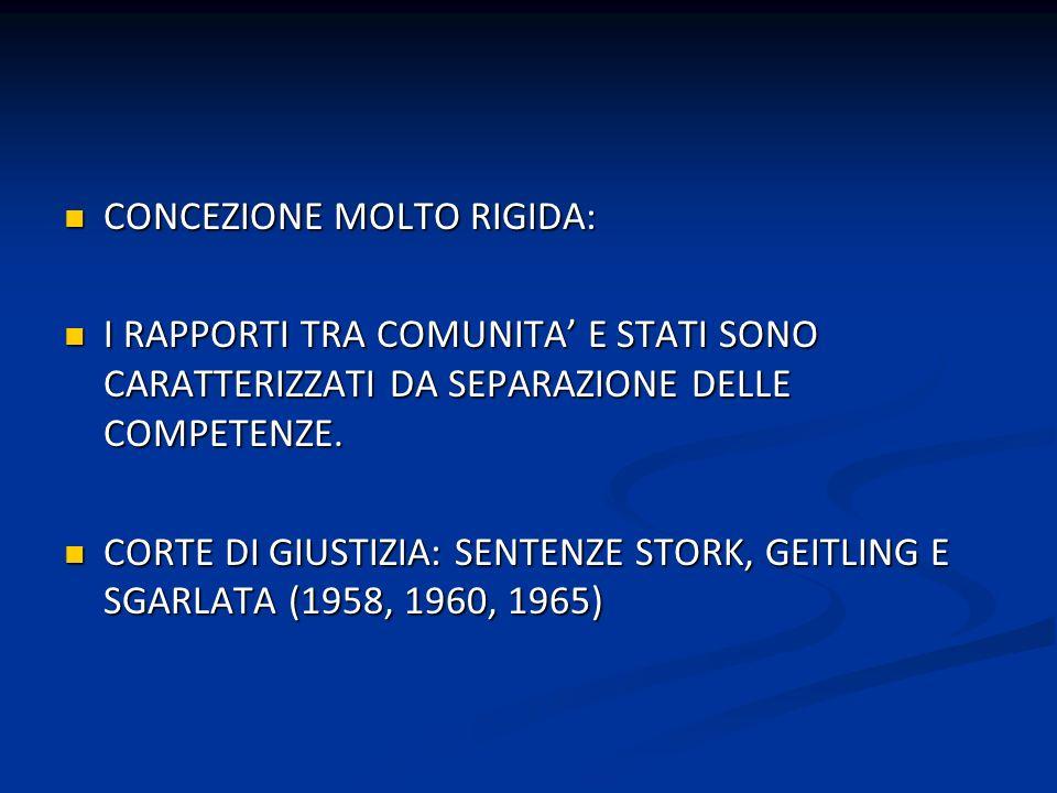 CONCEZIONE MOLTO RIGIDA: