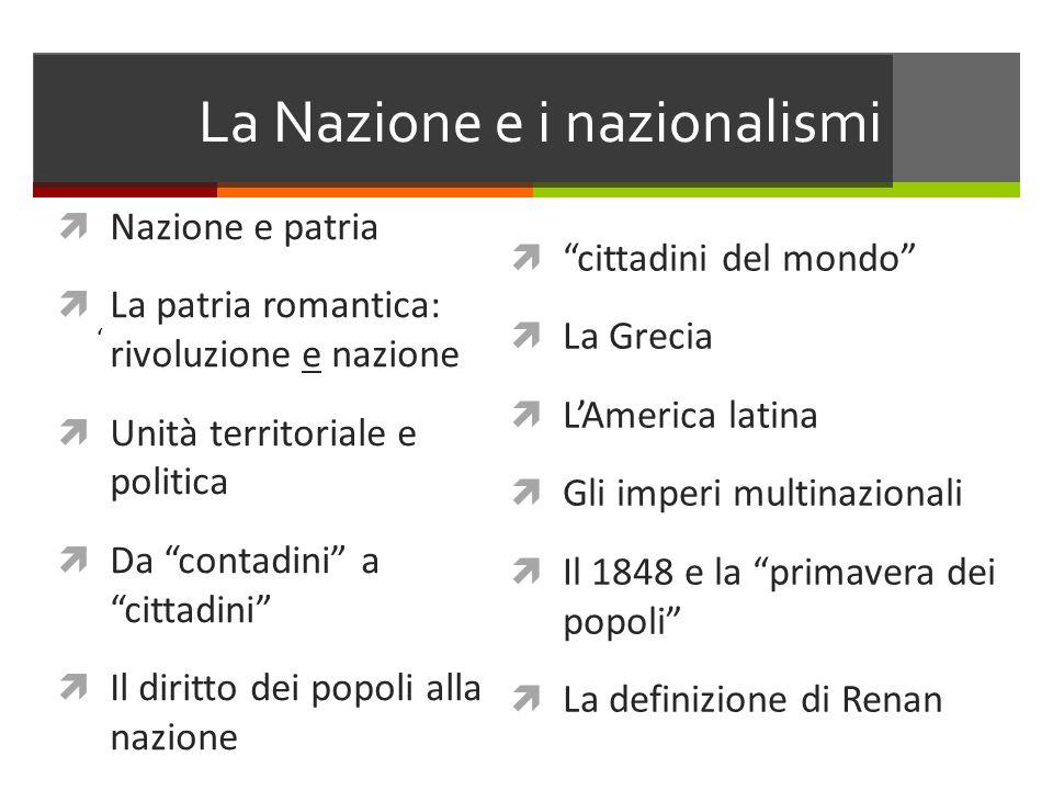 La Nazione e i nazionalismi