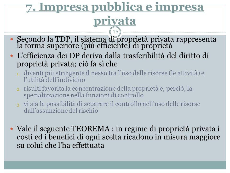 7. Impresa pubblica e impresa privata
