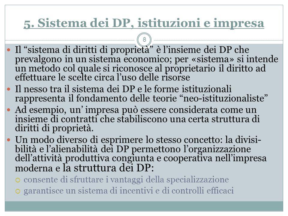 5. Sistema dei DP, istituzioni e impresa