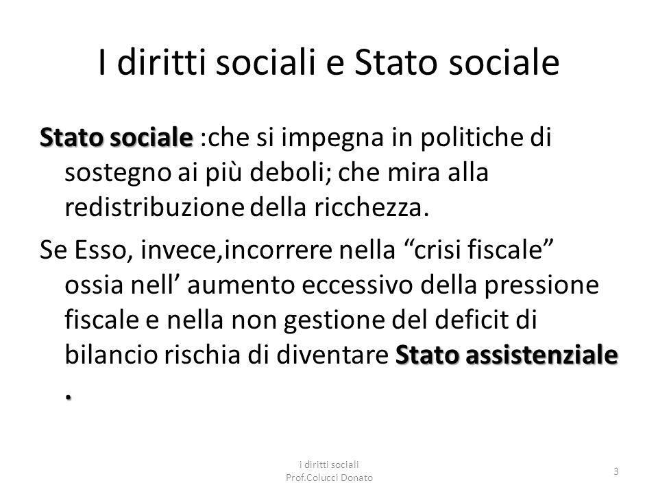 I diritti sociali e Stato sociale