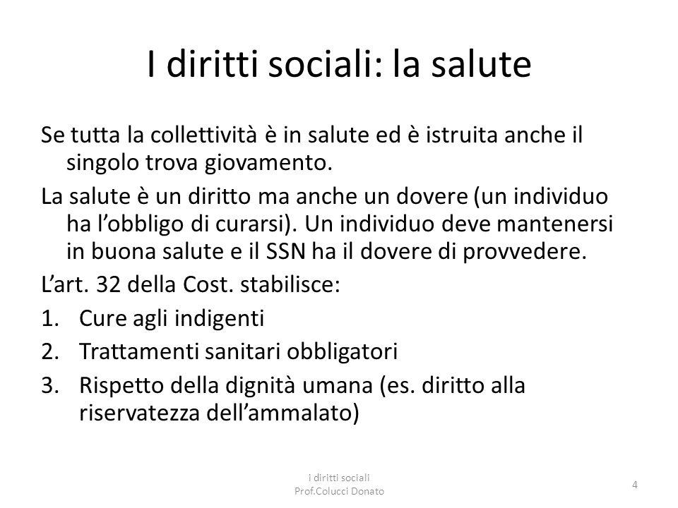 I diritti sociali: la salute