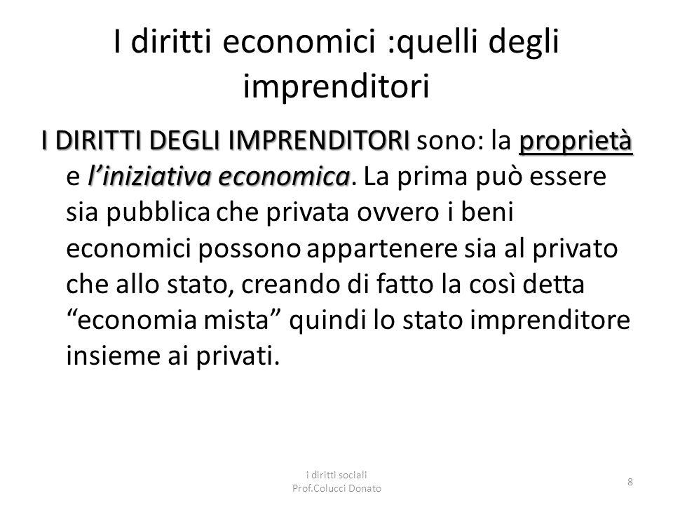 I diritti economici :quelli degli imprenditori