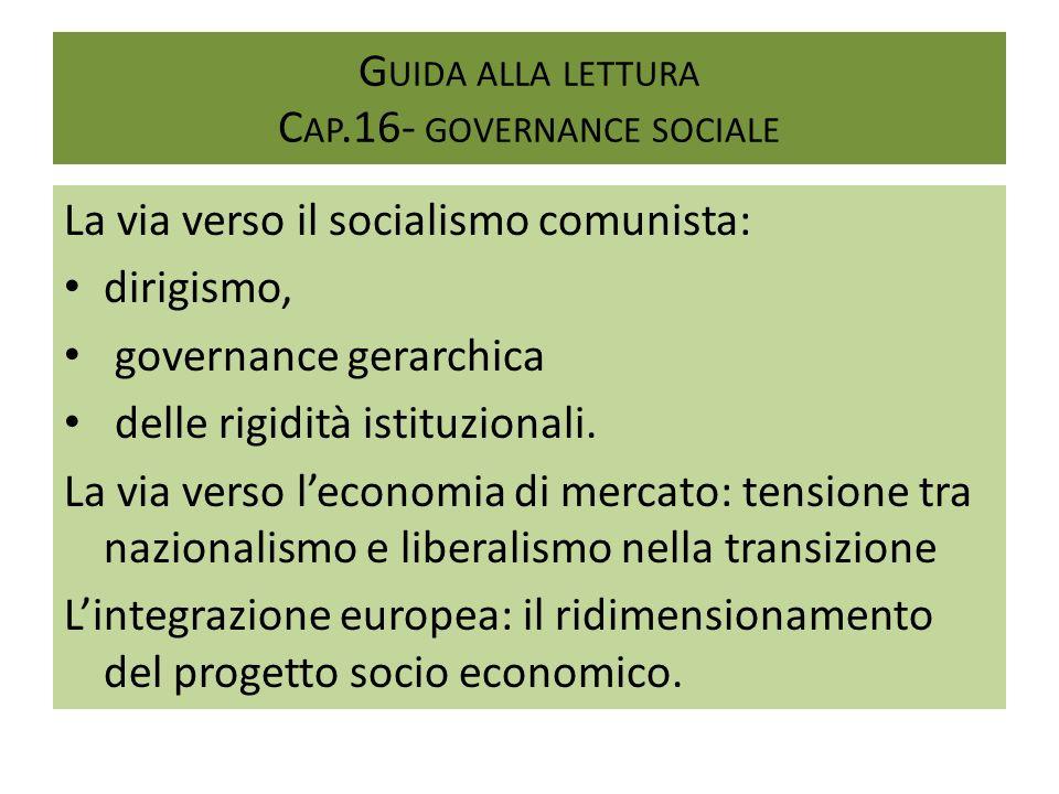 Guida alla lettura Cap.16- governance sociale