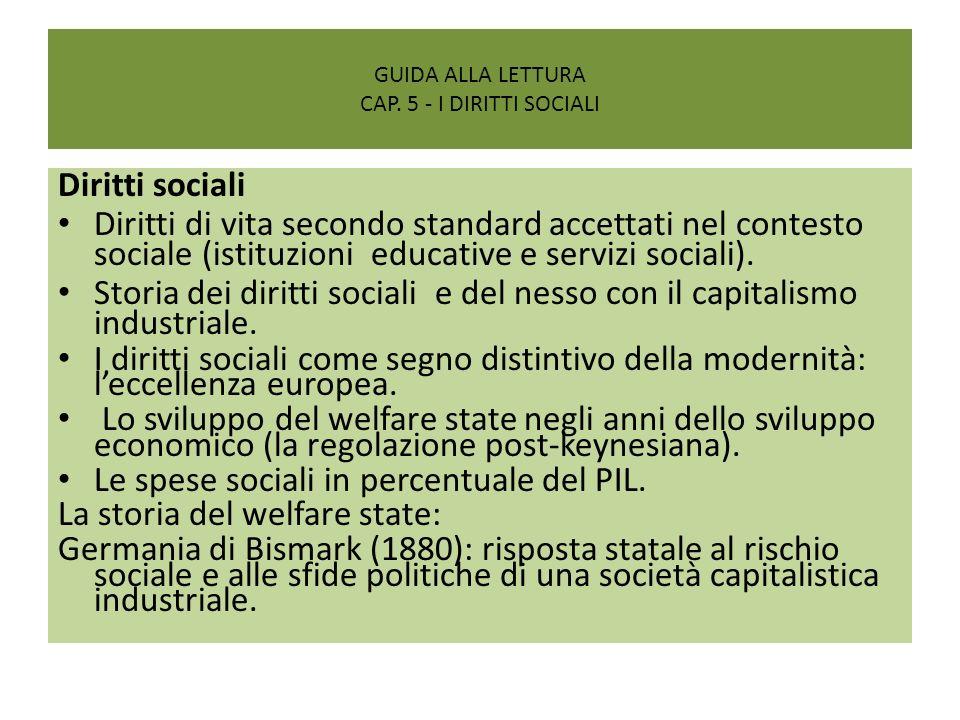 guida alla lettura Cap. 5 - I diritti sociali