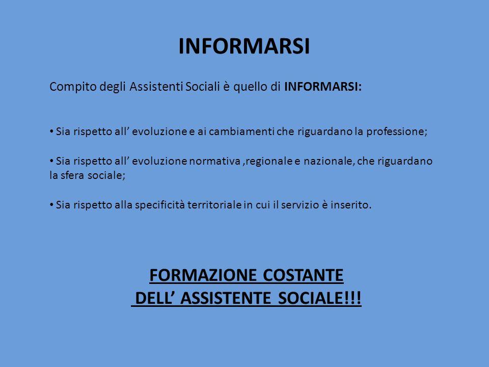 DELL' ASSISTENTE SOCIALE!!!