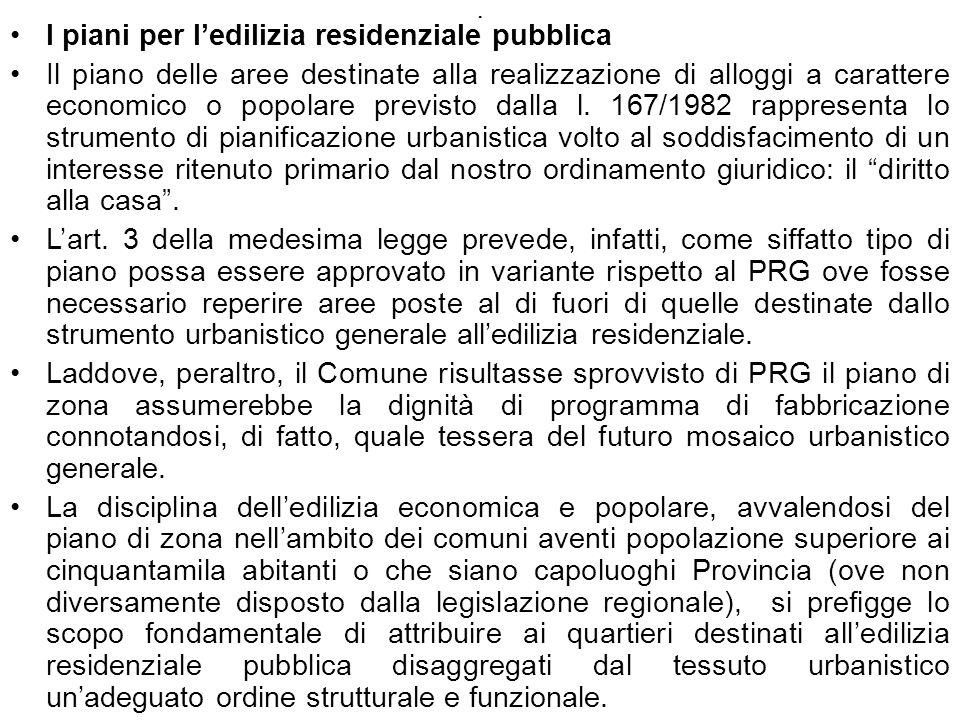 I piani per l'edilizia residenziale pubblica