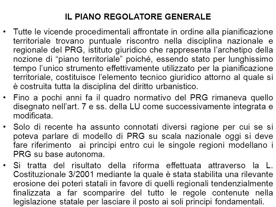 IL PIANO REGOLATORE GENERALE