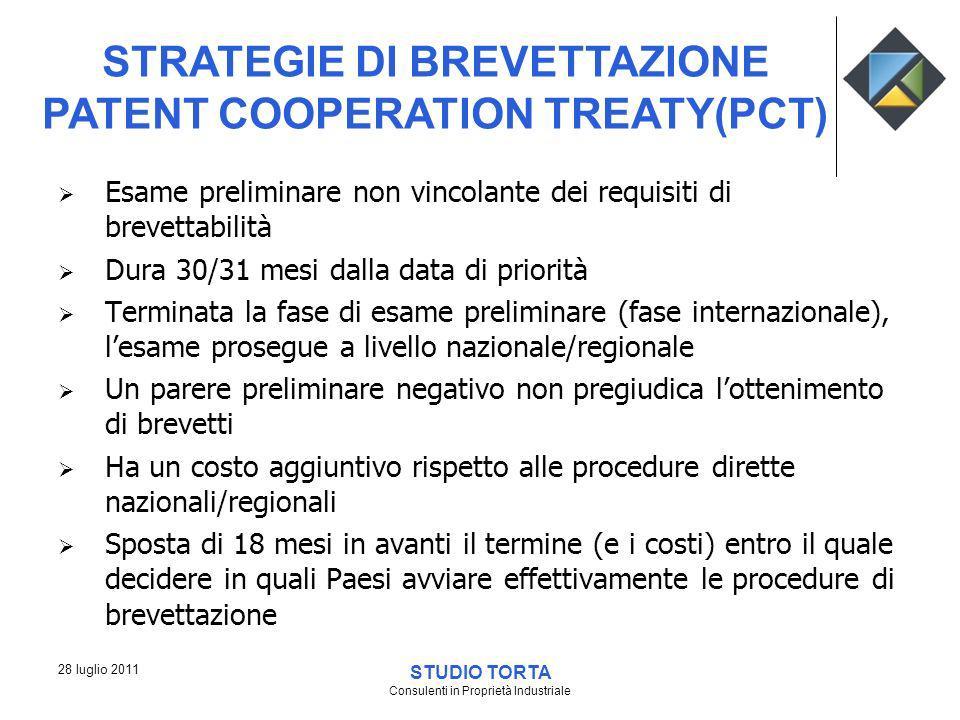 STRATEGIE DI BREVETTAZIONE PATENT COOPERATION TREATY(PCT)