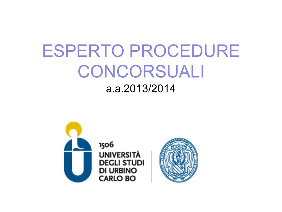 ESPERTO PROCEDURE CONCORSUALI a.a.2013/2014