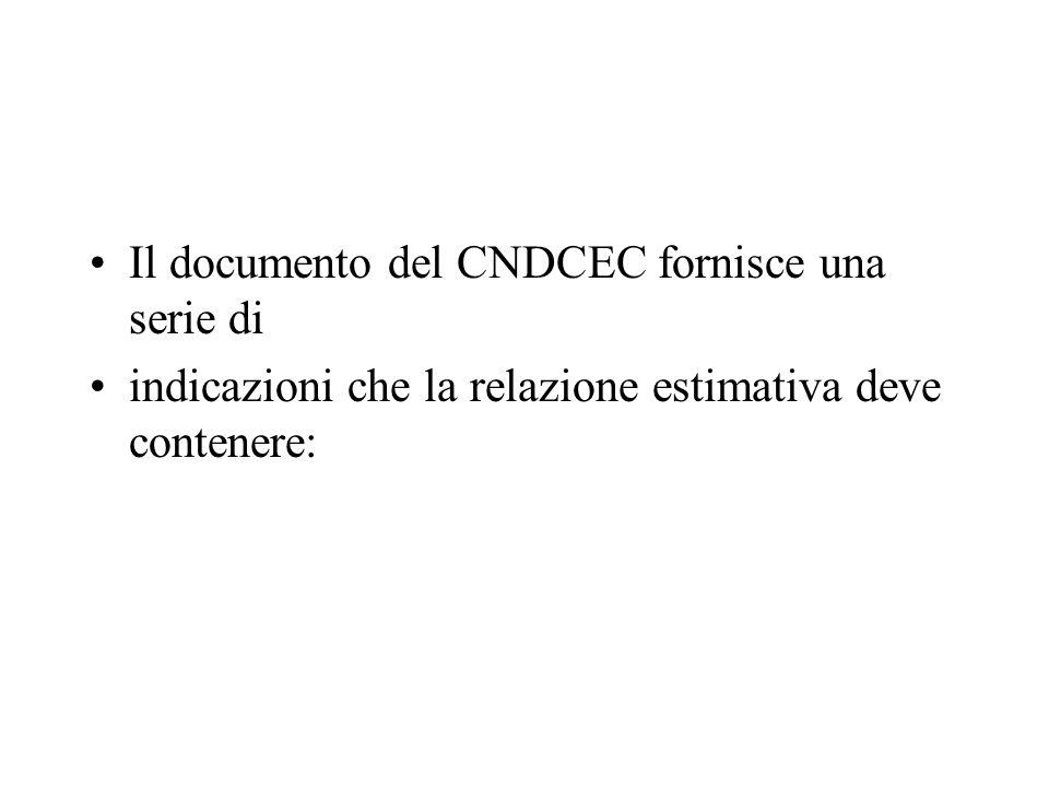 Il documento del CNDCEC fornisce una serie di