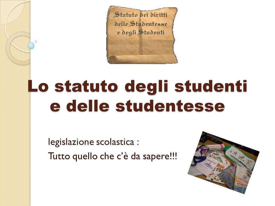 Lo statuto degli studenti e delle studentesse