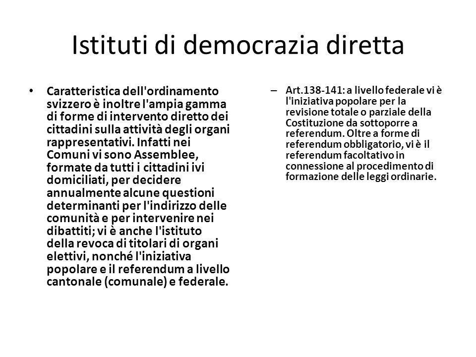 Istituti di democrazia diretta