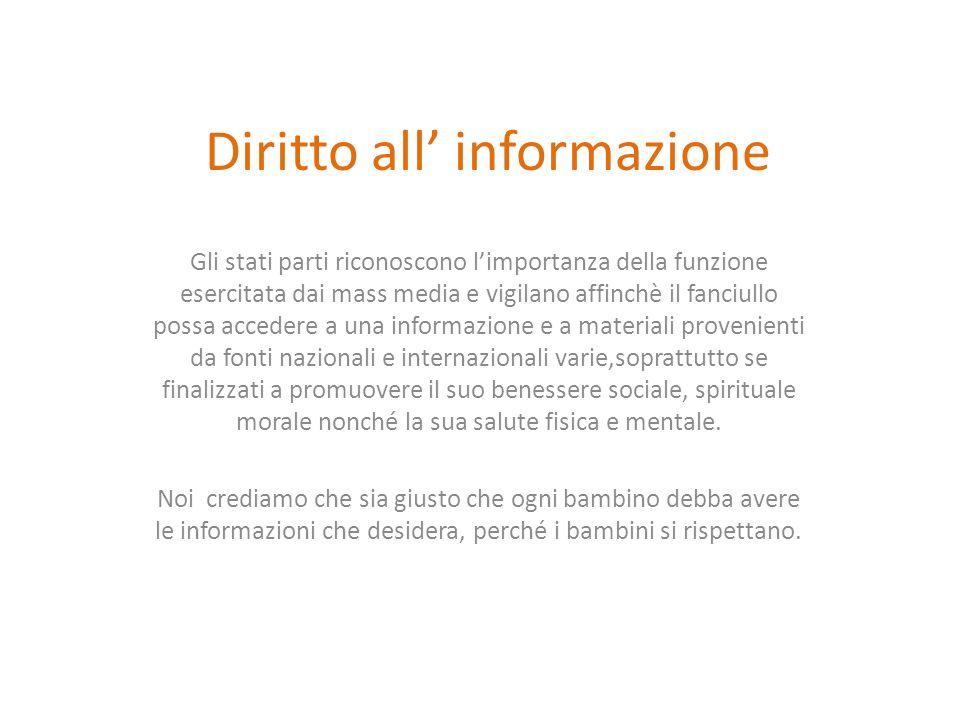 Diritto all' informazione