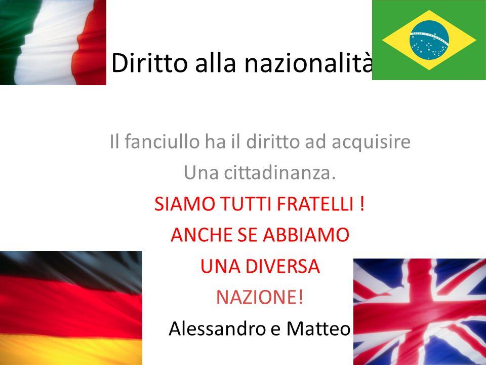 Diritto alla nazionalità