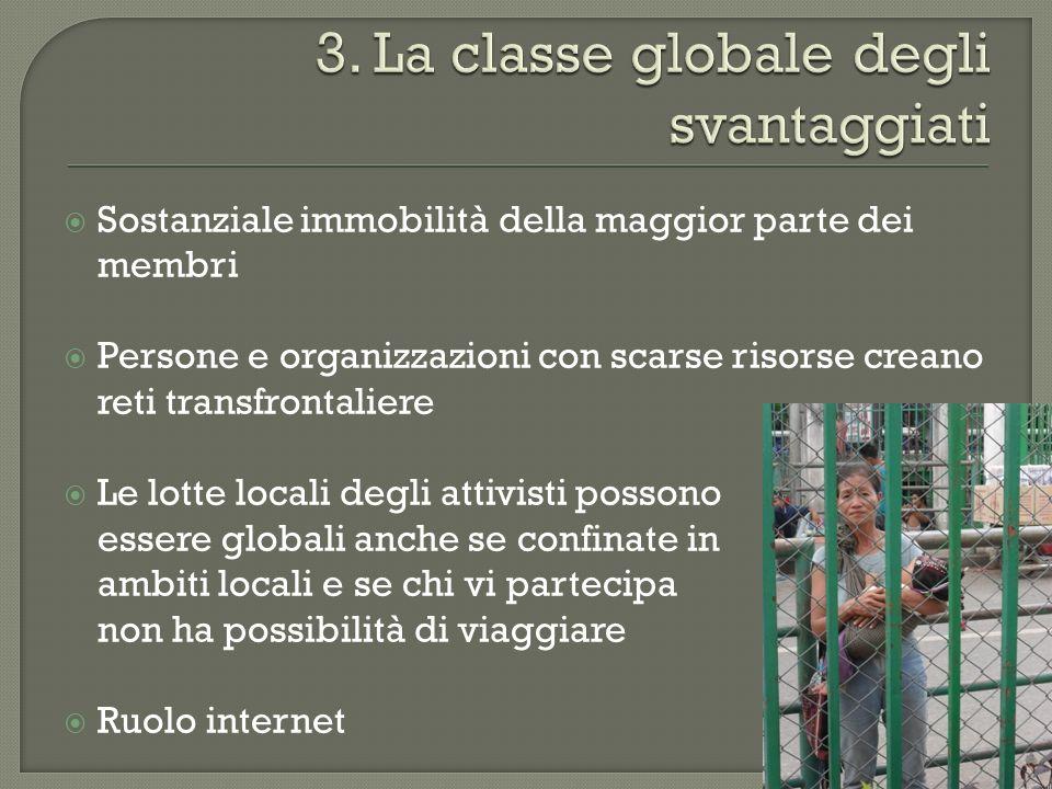 3. La classe globale degli svantaggiati