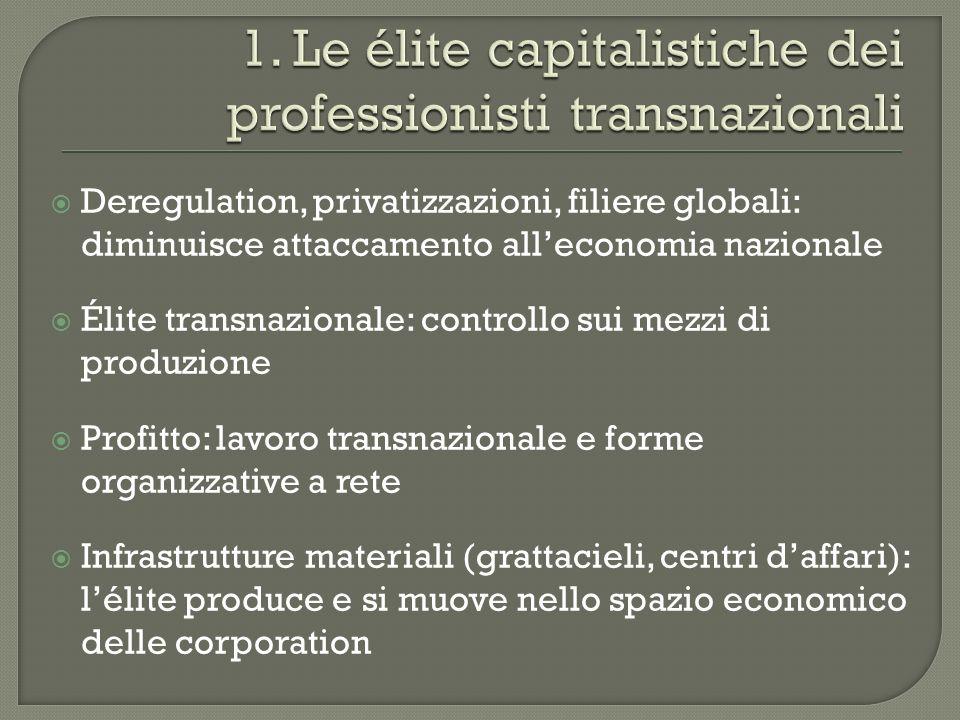 1. Le élite capitalistiche dei professionisti transnazionali