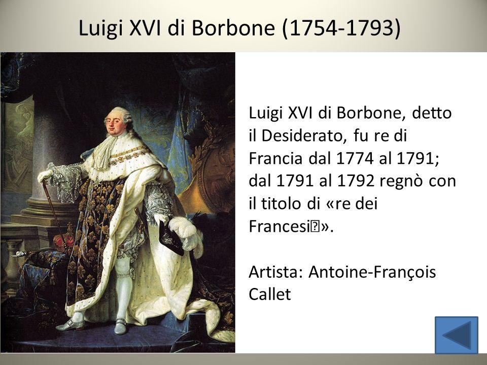 Luigi XVI di Borbone (1754-1793)