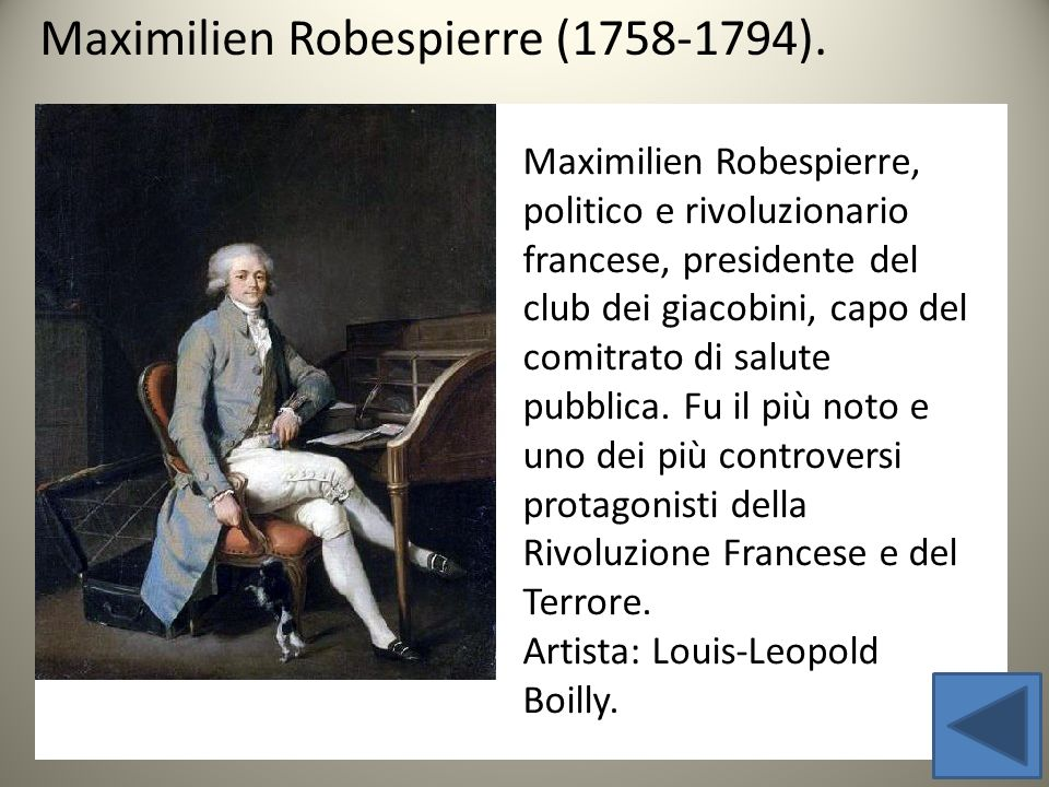 Maximilien Robespierre (1758-1794).