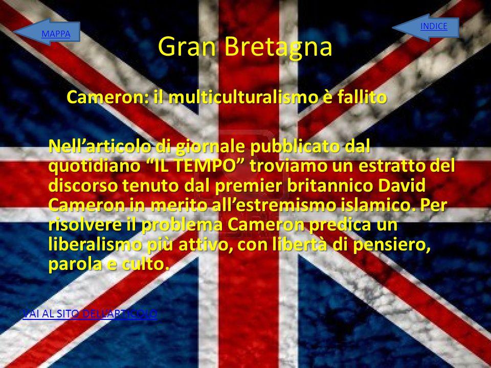 Gran Bretagna INDICE. MAPPA.