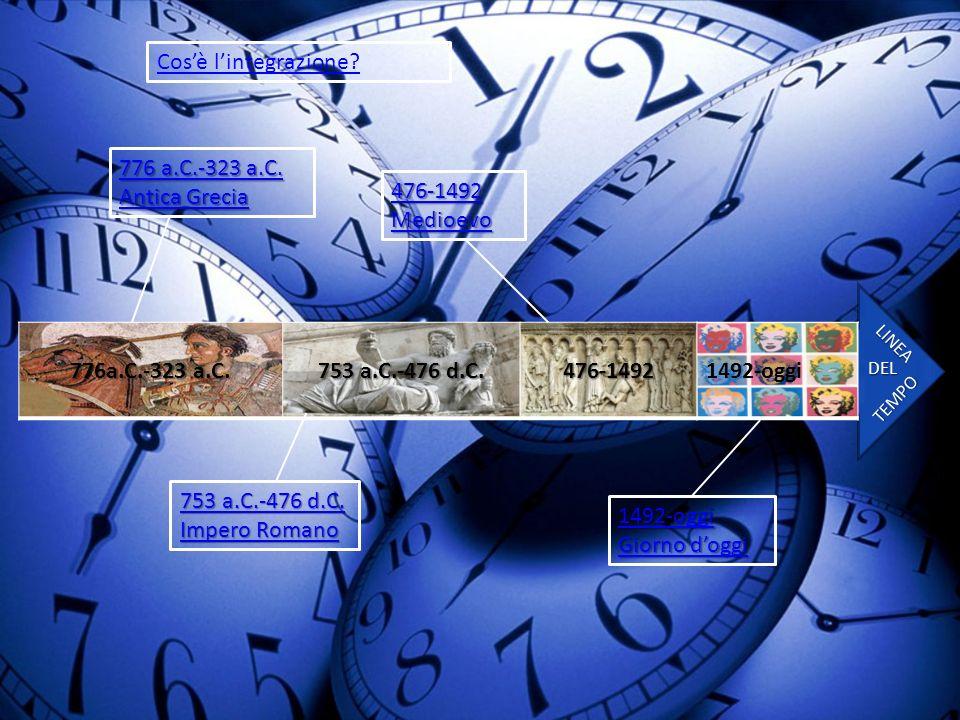 Cos'è l'integrazione 776 a.C.-323 a.C. Antica Grecia 476-1492