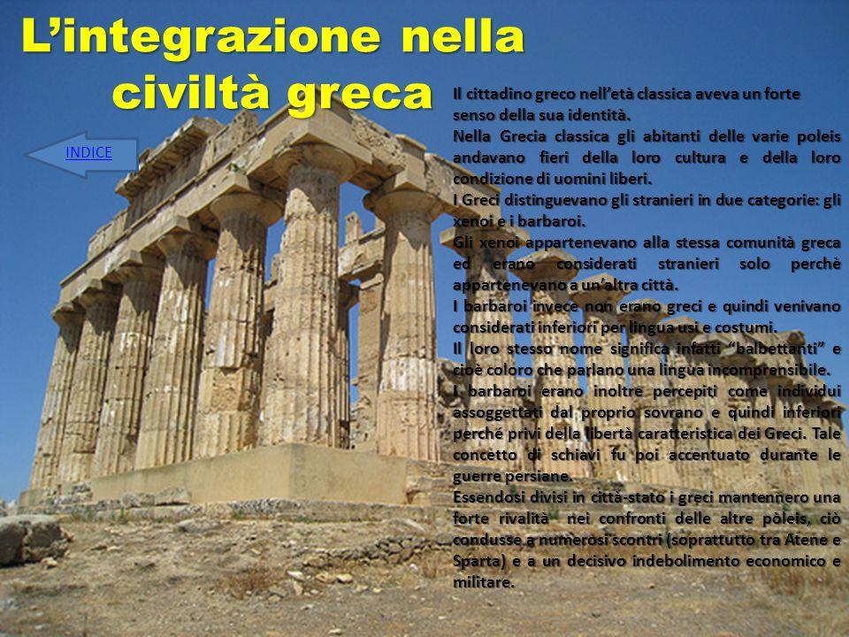 L'integrazione nella civiltà greca