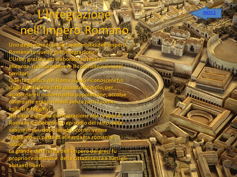 L'Integrazione nell'Impero Romano