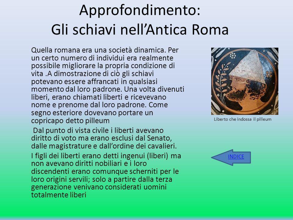 Approfondimento: Gli schiavi nell'Antica Roma