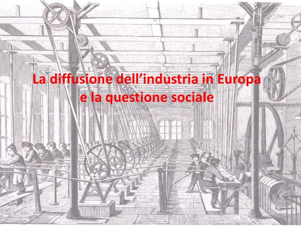 La diffusione dell'industria in Europa e la questione sociale