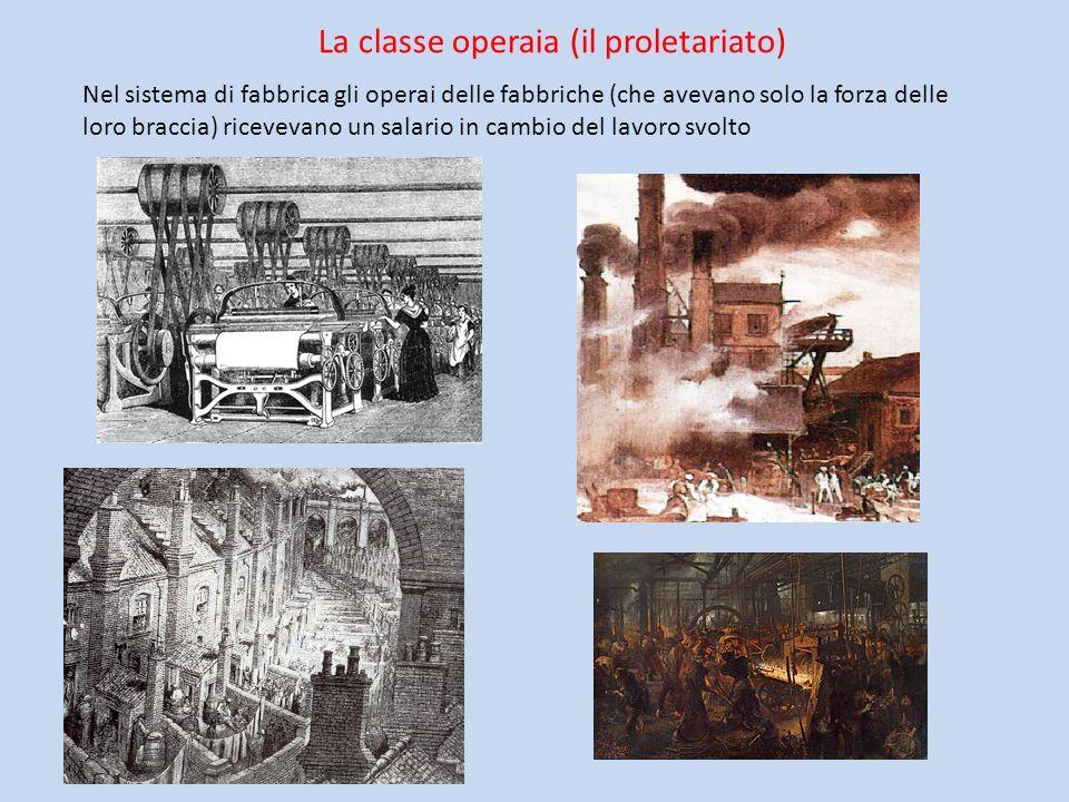 La classe operaia (il proletariato)