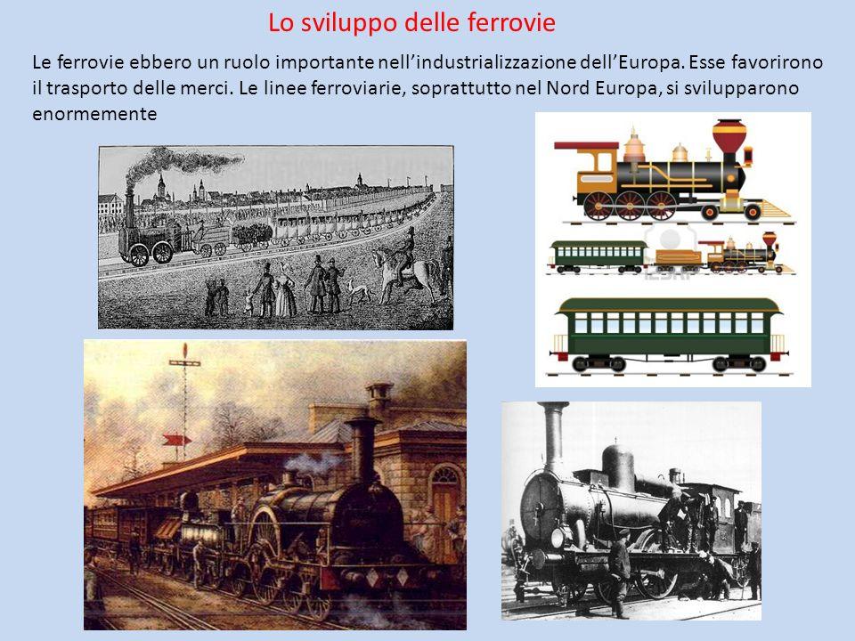 Lo sviluppo delle ferrovie