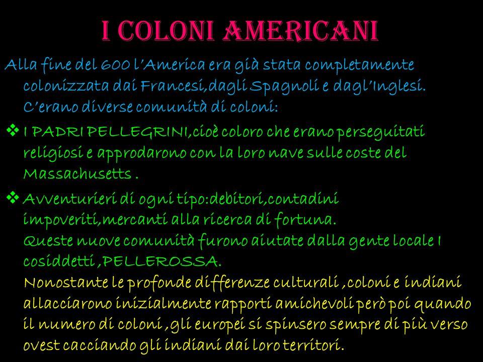 I coloni americani