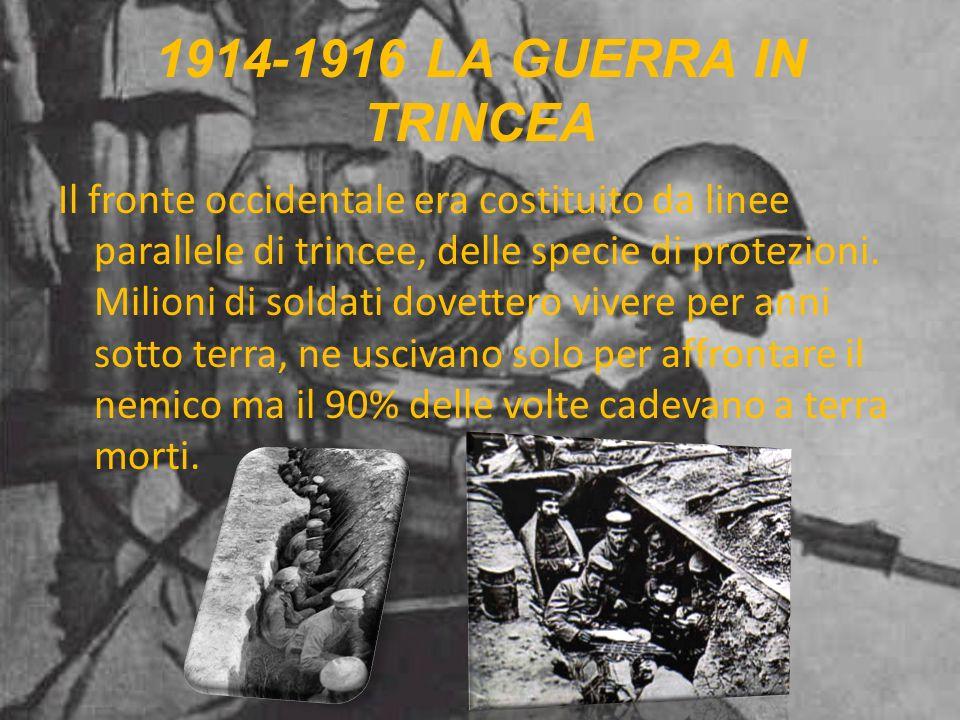 1914-1916 LA GUERRA IN TRINCEA