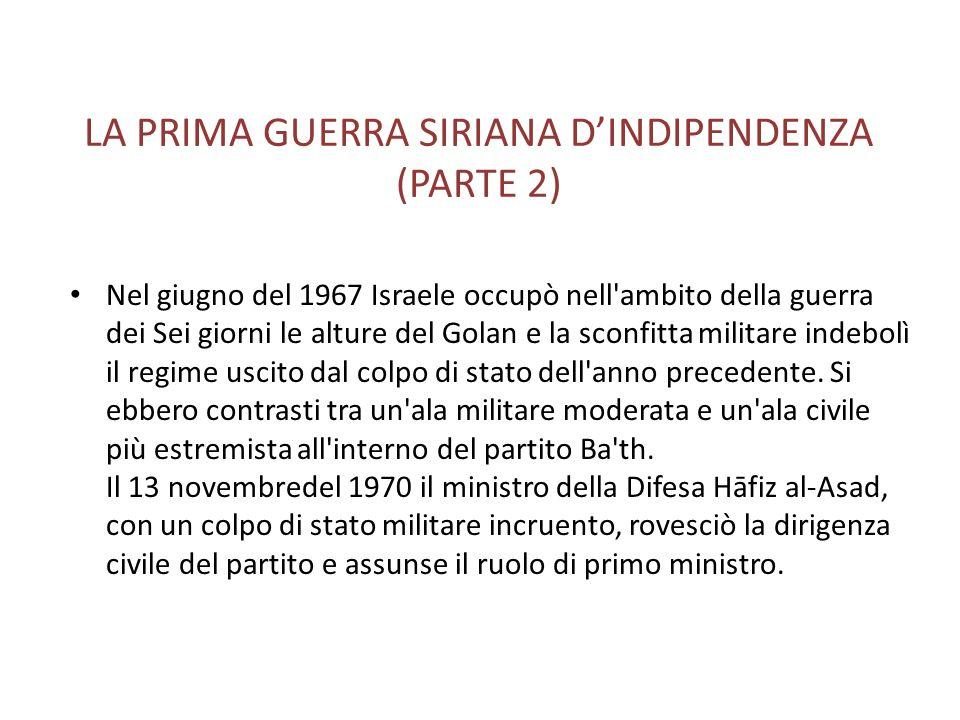 LA PRIMA GUERRA SIRIANA D'INDIPENDENZA (PARTE 2)