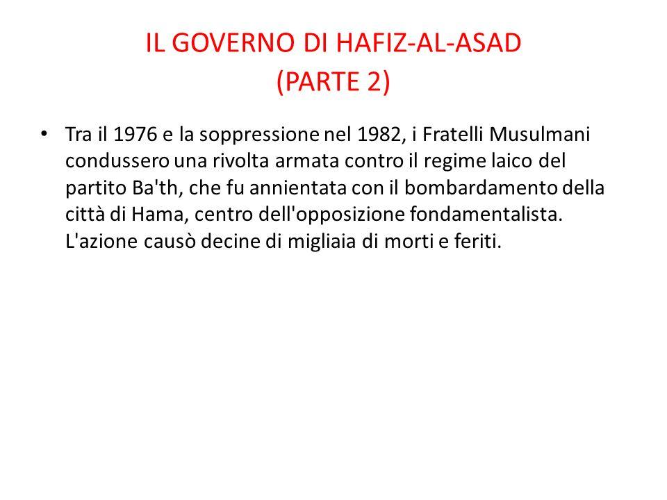 IL GOVERNO DI HAFIZ-AL-ASAD (PARTE 2)