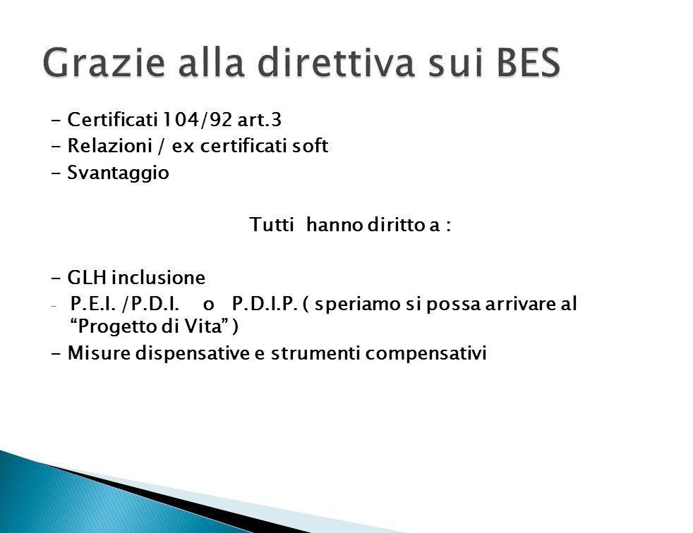 Grazie alla direttiva sui BES