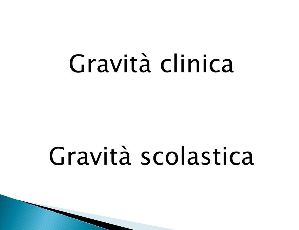 Gravità clinica Gravità scolastica